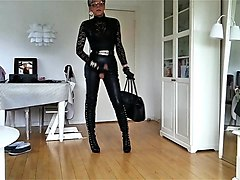 sissy sexy leather lady