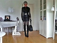sissy sexy leather skirt