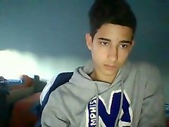 Spanish cute boy cums on cam  hot round ass on doggy