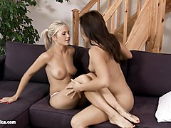 nikol and bellina eating eachother out as lesbians - sapphix