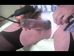 crossdresser tranny urethral sounding pumping lingerie toy