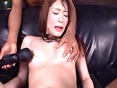 long hair asian diva screaming as her pussy is drilled hardcore roughly