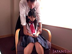 petite japanese schoolgirl sucks cock