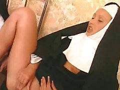 These Two Nuns Are Liking That Hard Cock