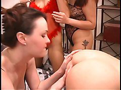Smoking hot red head gets her tight asshole licked by brunette