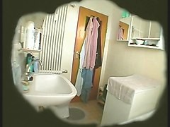 BBW Wife masturbates in bathroom (Hidden Cam)