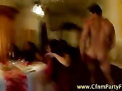 Cfnm horny amateur party girls suck stripper cock