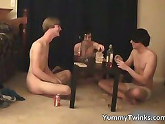 Three super cute twinks having a games part2