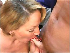 French Mature having a threesome