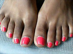 Ebony Toes FootFetisht FootJobs Toes Feet Toenails