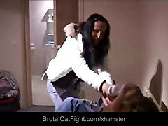 Slutty roommate girls catfight for a ring