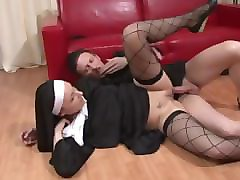 naughty nuns need a fist in their pussy and a cock in their ass