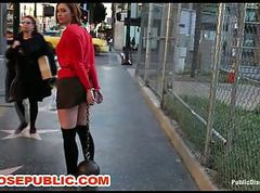 Outdoor Humiliation of Public Group Slave Jodi