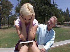 Blonde Tennie Fucked By Old Man,by Blondelover!