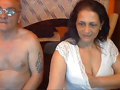 sexy indian granny with her husband