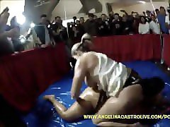 sara jay & angelina castro messiest oil catfight!