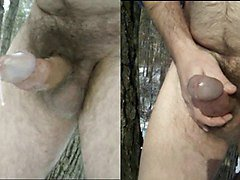 humongous outdoor messy cumshot collection - sexy nature guy