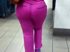 juicy ass milf in pink scrubs