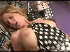 french mature woman gives ass to a younger boy in sex shop