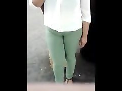 nice cameltoe in green pants. damaris from 1fuckdate.com