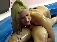 nikki whiplash vs. jerome - humiliating oil mixed wrestling