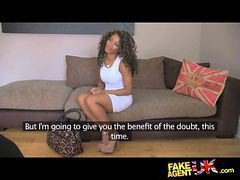 Fakeagentuk Inexperienced Ebony Amateur Gets Duped Into Fake Sex Casting