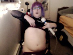 purple-haired goth trans girl hitachi session 12-02-15