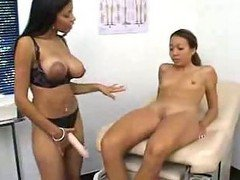 Ebony Nurse Fucks Tight Asian Whore