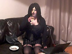 tgirl smoking.