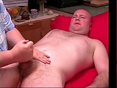 hand job to bald man