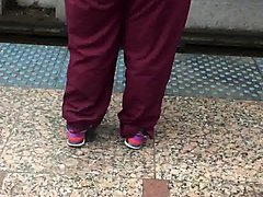 ghetto big booty milf in maroon scrubs 1