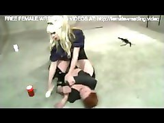 catfight dominated by blonde