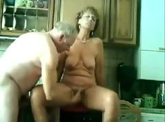 Mature fucked in Kitchen