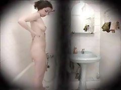 Hidden Cam In Bathroom Pretty Brunette Girl
