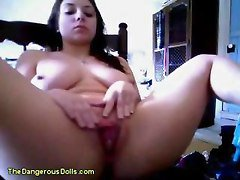 Young Goth Bitch Squirts On Webcam