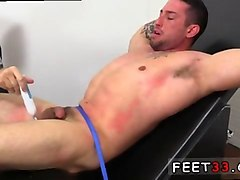 bound hunk gets tickled while screaming and squirking