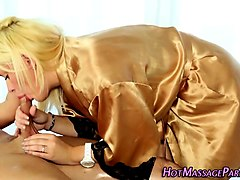 latina tgirl beauty pulling her hard cock