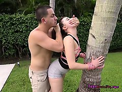 Mika is a very beautiful Latina diva who is stalking a large dildo that she sees. She crawls over to it seductively and then puts the rubber toy in her mouth. Then in the very next flick, she is seen sucking wang down her throat. He grabs her by the hair