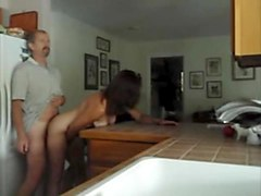 fucking my milf in the kitchen