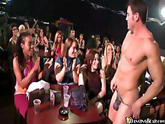 Nice Girls In Orgy In Club