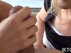 ts girl blows like hell before riding perfect male schlong