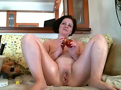 Transvestite shemale pumping cock lingerie nylon pump toy