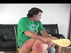 caged sissy crossdresser sucking and riding big white cock