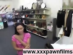guy talks latina into sex for cash in shop