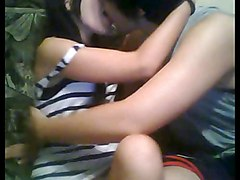 Emo Teen Couple Play On Cam