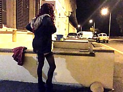 crossdresser public flashing
