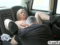 busty tv star pussy licked and pounded by fake driver