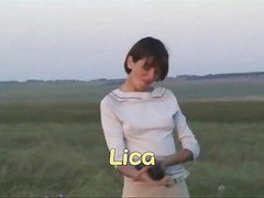 Lica That Uses Fist Dildo In Meadow