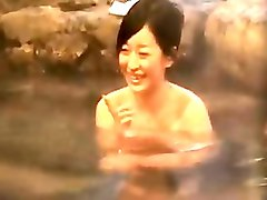 asian babe bathes in a neat spa and gets felt up by two dud