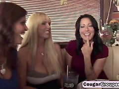 busty milfs syren de mer, zoey holloway and their blonde friend in hot fousome